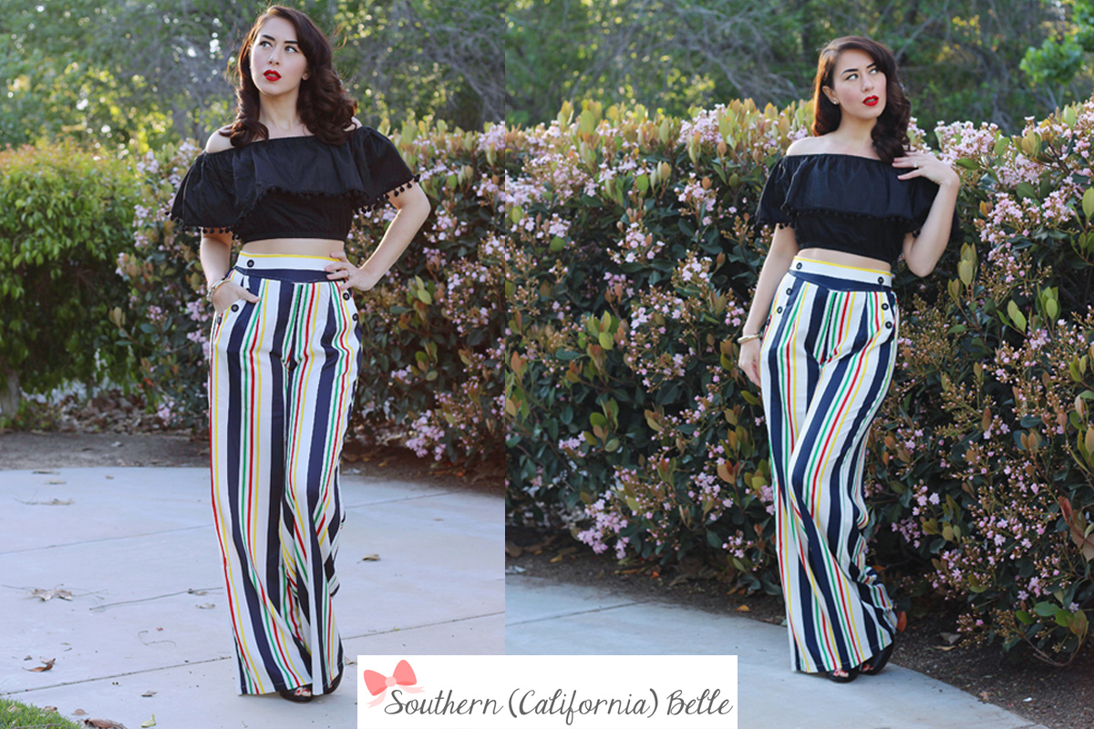 Southern Ca Belle - Hayley trousers by Voodoo Vixen