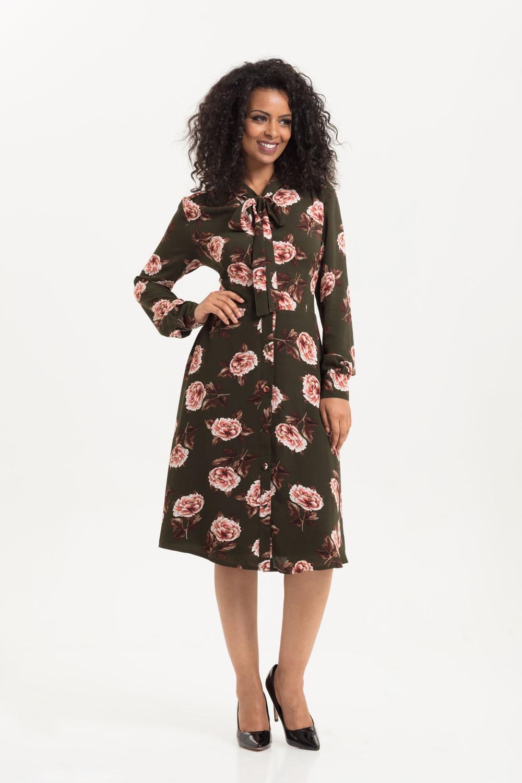 7aef68af56a7 VOODOO VIXEN Nora Floral 40s Style Tea Dress DRA8649 UK 8-16 aw18 ...