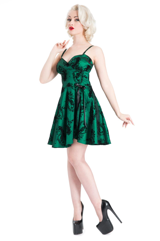 Sally Taffeta Pinup Dress