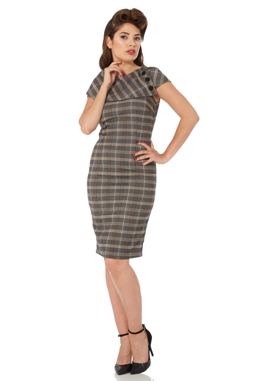 Renata Tartan Pencil Dress