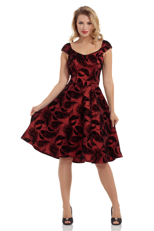 Blair Burgundy Swing Dress