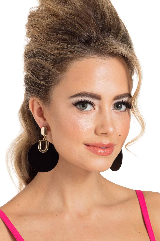 Retro Disk Earrings