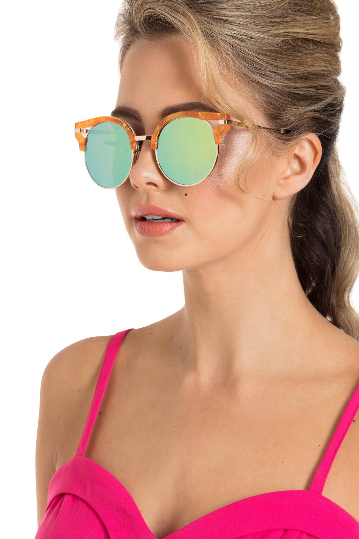 Retro Round Clubmaster Sunglasses