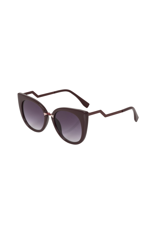 Cat Eye Sunglasses Burgundy